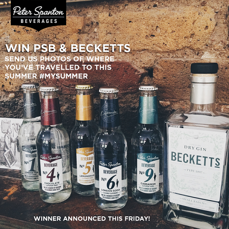 Win a bottle of Beckett's Gin and loads of PSB tonics